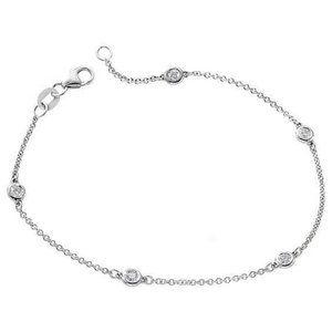 2 ct White gold 14k Chain yard of diamond bracelet